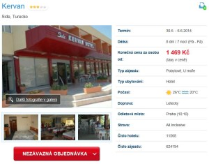 turecko all inclusive levně