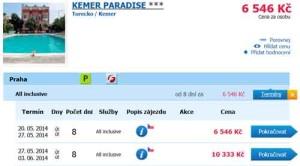 Turecko dovolená 2014 Kemer